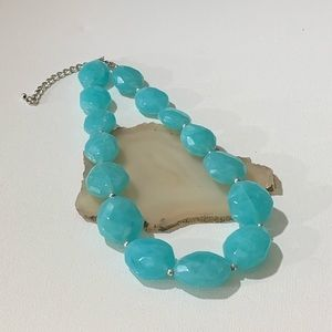 Ague blue statement necklace